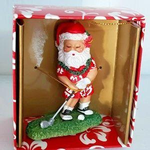 Island Heritage Golfing Santa Christmas Ornament